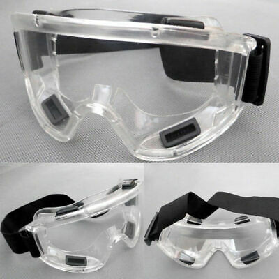 Chemical Splash Safety Goggles Glasses Anti Fog Scratch Resistant Protect Over
