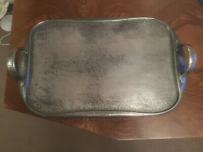 Arts & Crafts Archibald Knox hammered pewter tray 043 Tudric - early 1900s