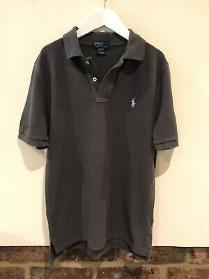 Polo Ralph Lauren Lovely Boys Grey Polo Shirt Age 10-12 Years Good Condition