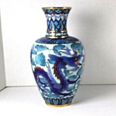 19th to Early 20th Century Antique Chinese Cloisonné Dragon Vase