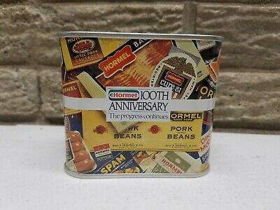 Vintage Hormel 100th Anniversary  1891 - 1991 Tin Coin Bank