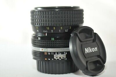 Nikon Zoom Nikkor 35-70mm f/3.3-4.5 AI-S lens RED D DEMO RARE for F3 HP FM2N FA