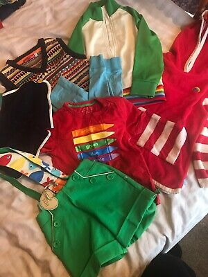 Huge 4-5 Little Bird Bundle Unisex Boys Girls Jacket Crayon Rainbow Towelling
