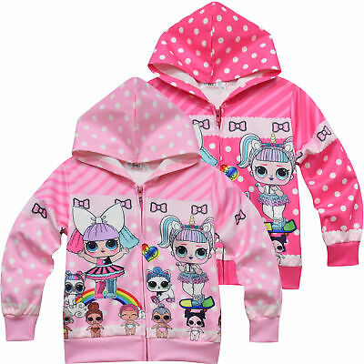 Official sizes 7-14yrs Girls coat LOL Surprise Dolls jacket hoodie