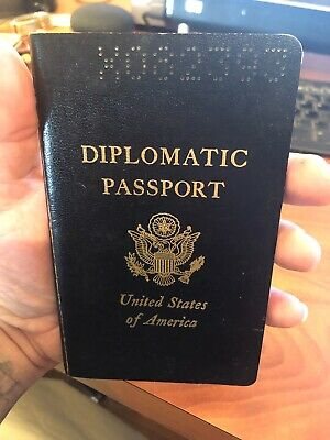 VINTAGE Collectible US Diplomatic passport, Cancelled EXPIRED LOTS OF CANCELS