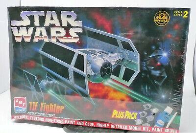 AMT 8432 Star Wars Tie Fighter with Paint & Glue Kit - New RO-MM-2