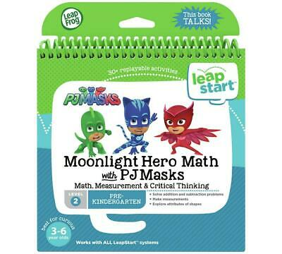 LeapStart Moonlight Hero Math With PJ Masks Book (Level 2) - LeapFrog Free Shipp