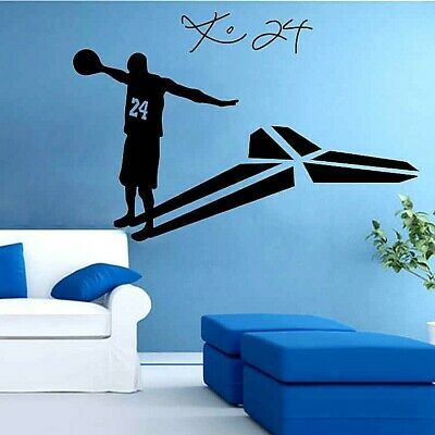 Kobe Bryant 24 basketball player living room glass wall sticker home