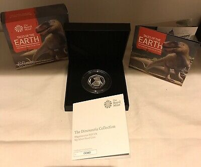 Royal mint 50p Dinosaur Megalosaurus Very LOW COA Silver Proof SOLD OUT!!!
