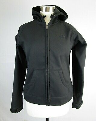 The North Face Black Softshell Zip Hoodie Jacket Women's Sz Small