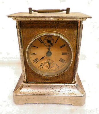 German Signed Junghans Carriage Clock Circa 1910 With Alarm