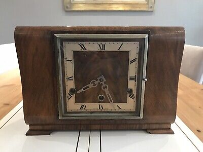 ANTIQUE 1930's WESTMINSTER CHIMES MANTLE CLOCK MADE by ANVIL for repair.