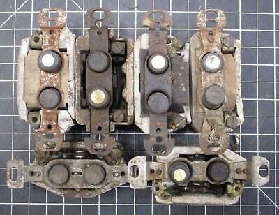 LOT #497: (6) Vintage Pushbutton Light Switches for Parts/Repair