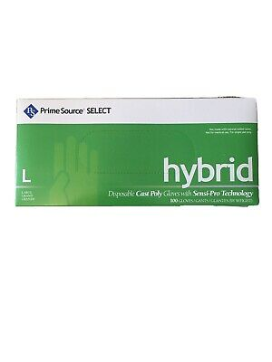 Prime Source Select Hybrid Disposable Cast Poly Powder Free Gloves Food Service