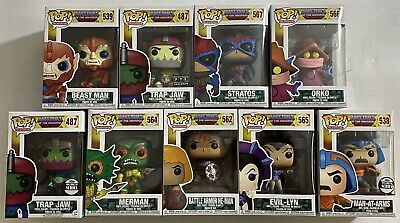 He-Man & the Masters of the Universe Funko Pops Lot of 9 Evil-Lyn Trap Jaw Orko