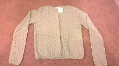 Girls Green H&M cardigan age 8 9 10 years New