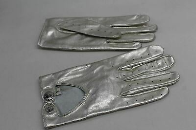 ASPINAL OF LONDON Ladies Metallic Brogue Finger Leather Gloves Size 7 NEW
