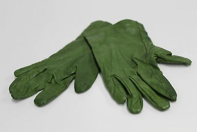 ASPINAL OF LONDON Ladies Green Nappa Luxury Leather Silk Lined Gloves 7.5 NEW