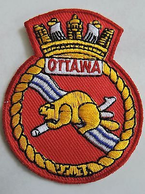 embroidered cloth patch OTTAWA CANADA souvenir beaver