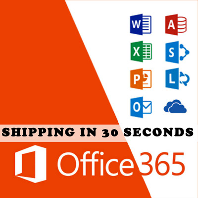 Microsoft Office 365-2019 Pro Plus Lifetime-Shipping 30 Sec-License 5 devices