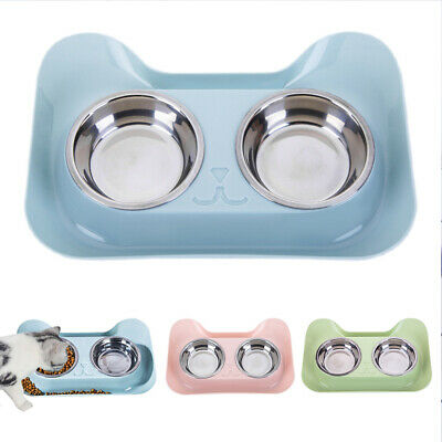 Stainless Steel Double Dog Bowls with No Spill Non-Skid Feeder Bowls Pet Bowl
