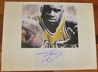 SHAQUILLE O'NEAL-Hand Signed Card is Presented With A Photo-Mounted,Matted & COA