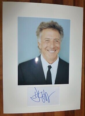 DUSTIN HOFFMAN-A Hand Signed Card is Presented With A Photo-Mounted & Matted,COA
