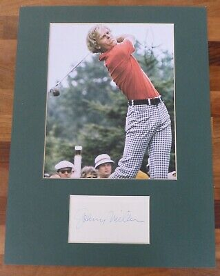 JOHNNY MILLER-A Hand Signed Card is Presented With A Photo-Mounted & Matted,COA