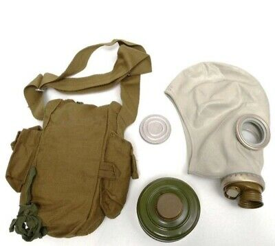 Soviet Russian 100%ORIGINAL FULL SET Gas Mask GP-5 Military All Size Grey rubber