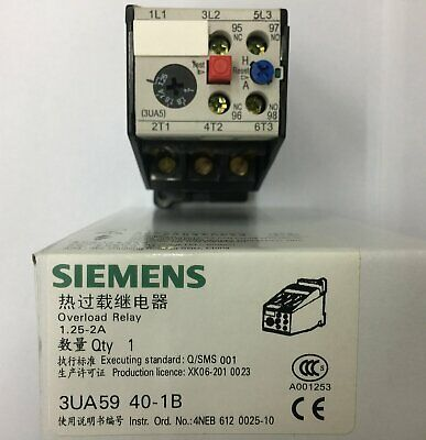 1PC FOR SIEMENS Thermal Overload Relay 3UA5940-1B 1.25-2A NEW IN BOX