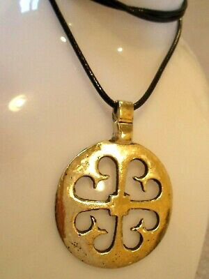 Unique Gifts,Detector Find & Polished, Ancient Bronze Amulet/Necklace..