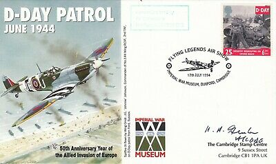 50th Anniv D - Day Patrol Signed by  H A Fenton  Battle of Britain Fighter Pilot