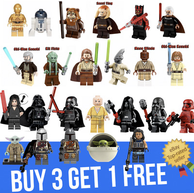 Star Wars mini figures custom minifigure set Vader Anakin Maul fits with lego