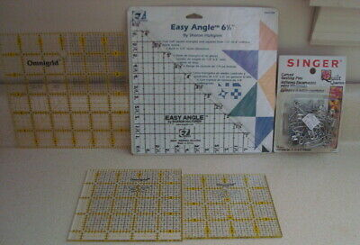 LOT of 5 Quilting Tools Templates Plus 3 Quilting Patterns