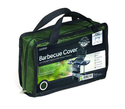 Premium Heavy Duty Wagon Trolley BBQ Cover Waterproof Barbecue Green Gardman