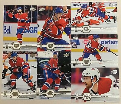 2019-20 MONTREAL CANADIENS UD SERIES 1 & 2 BASE 13 CARD TEAM SET WITHOUT SP's