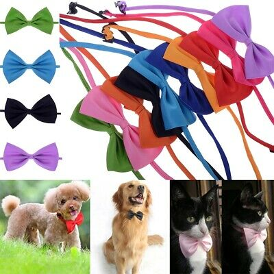 Adjustable Dog Puppy Cat Necktie Bow Tie Small Dog Pet Clothes Decor Bowknot