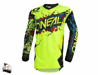 Maglia O'Neal Cross MX Element Youth Villain Yellow Fluo Bambino 2020
