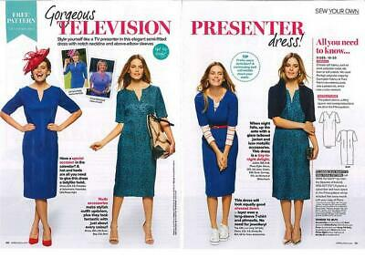 Prima Sewing Pattern Ladies Classic simple keyhole neck elbow DRESS APRIL 2014