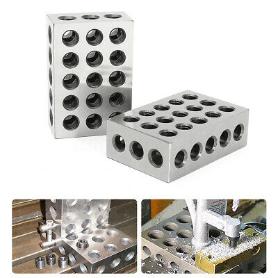 2 x Matched Pair Ultra Precision 1-2-3 Blocks 23 Holes .0001'' Machinist
