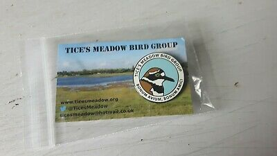"RSPB interest TICE'S MEADOW BIRD GROUP BRITISH WILDLIFE enamel badge"" Rare pin"