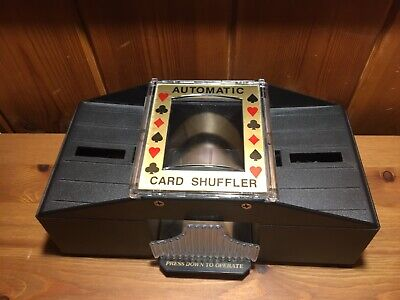 Used Automatic Cards Shuffler Sorter  Casino Playing Poker One Or Two Deck Uk
