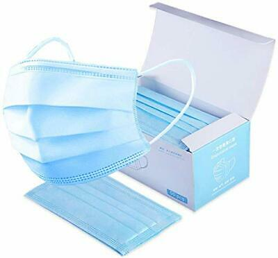 50 x MEDICAL FLU SURGICAL MASKS BOX OF 50 POLLUTION EARLOOP DISPOSABLE FACE MASK
