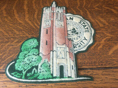 Vintage MSU Michigan State Beaumont Tower Patch Circa 1950's Large RARE