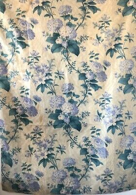 Antique Beautiful 19th Cent. French Printed Cotton Floral Fabric (3017)