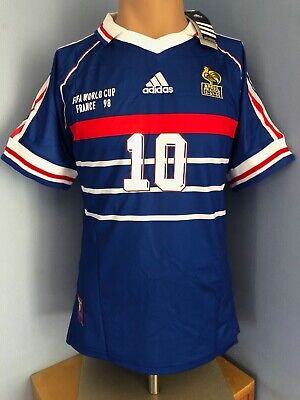 Maillot France 98, T. S/M/L/XL : ZIDANE -NEUF-100% authentique