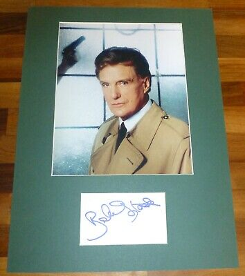 ROBERT STACK-Hand Signed Card is Presented With A Photo-Mounted & Matted,COA