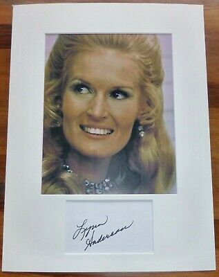 LYNN ANDERSON-A Hand Signed Card is Presented With A Photo-Mounted & Matted,COA