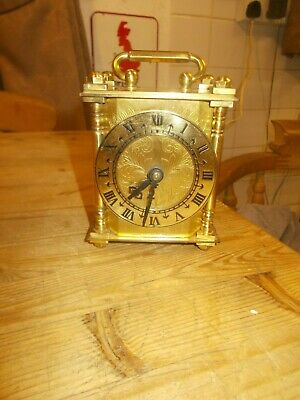 Vintage Smiths Brass  Electric Carriage Clock  Full Working Order