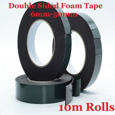 1x Black Double Sided Automotive Permanent Self-adhesive Foam Car Trim Body Tape